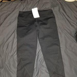 Black Lace Detail Fabletics Leggings